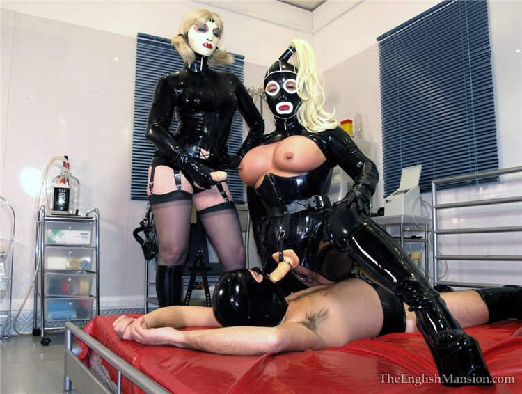 2 latex clad big tits hotties in action - 2 5