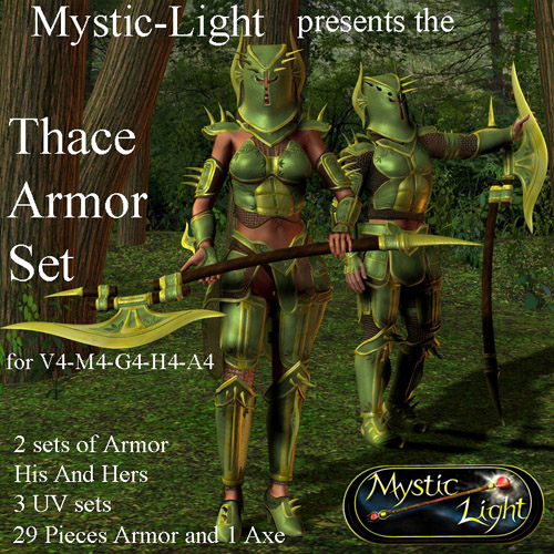 Mystic-Lights Thace Armor set for M4 V4