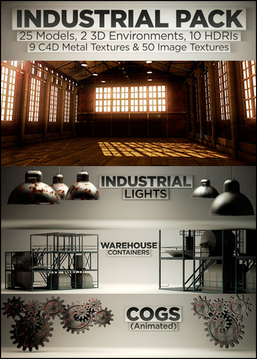 The Pixel Lab 3D Industrial Pack For Cinema 4D