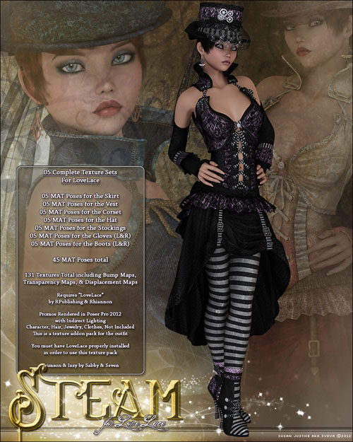 Steampunk Lovelace Clothes V4, A4, G4 & addons