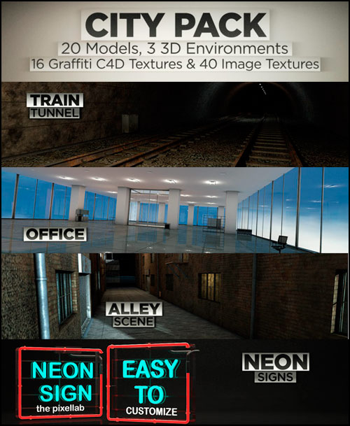 The Pixel Lab - City Pack 3D Models