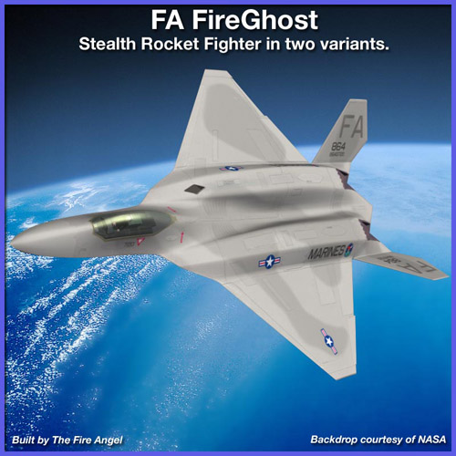 FA FireGhost Stealth Rocket Fighter