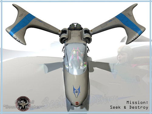 FHM-110 Bounty Hunter Spacecraft