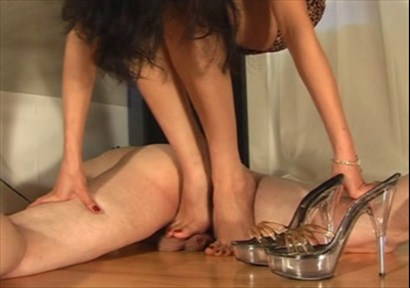 Balls Under Barefeet Female Domination