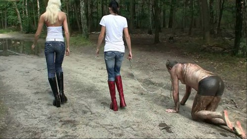 Stiefel Sklave Im Schlamm Female Domination