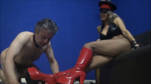 Tongue Polish My Boots Female Domination