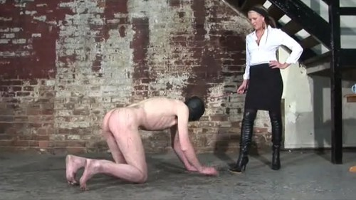 Cruel Mistress Kicking Slave Female Domination