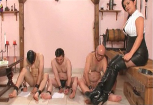 3 Slaves Punishment Female Domination
