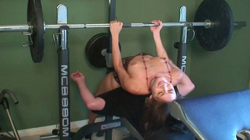 Bench Press Me With Your Face Female Domination