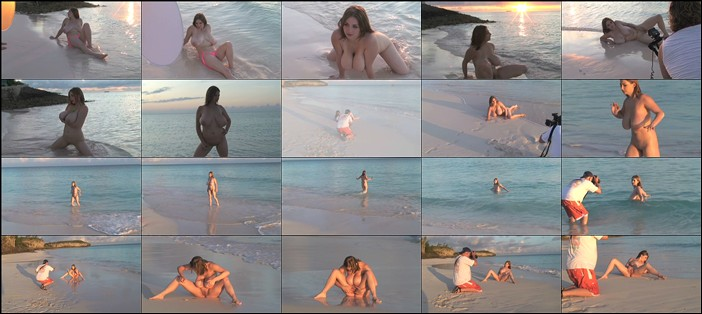 Christy Marks - Beach Balls - Teen With Huge Hanging Nats - On Location Eleuthera