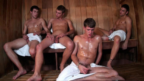 Sauna gay sex.