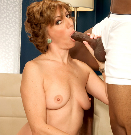 Black sucking cock milf mature