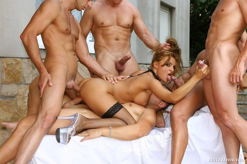 1 girl man gangbang 50 stocking