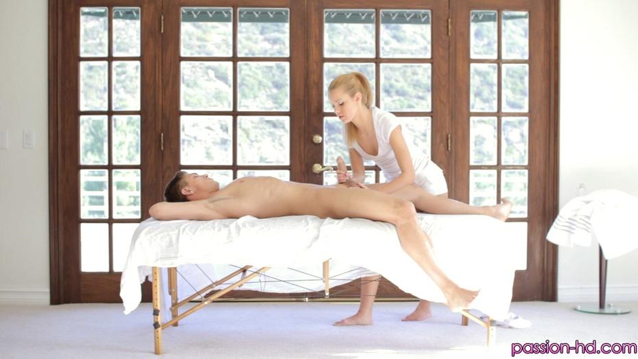 bueno masaje rubia