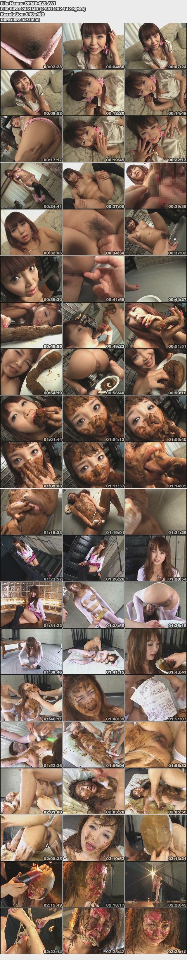Japanisches Mädchen isst Scheiße