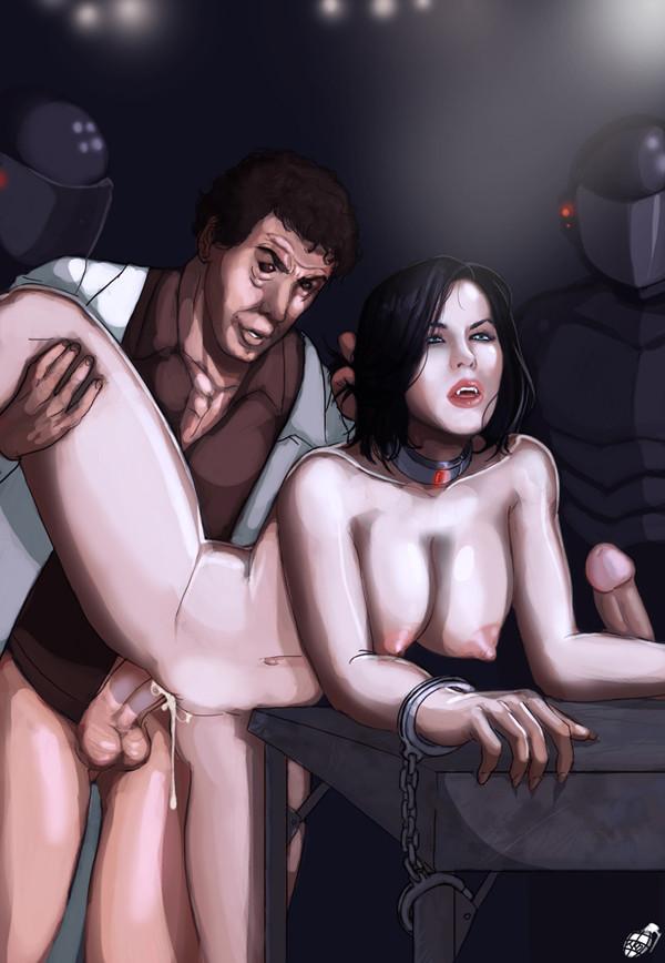 Порно немного вампирского