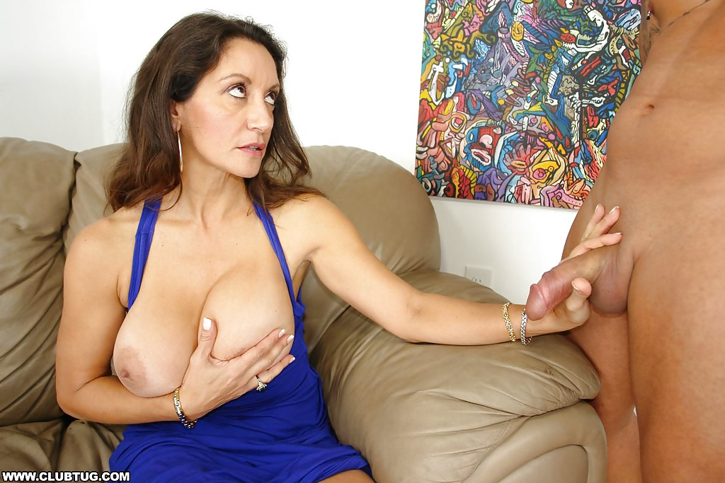 Perfect huge juggs mature milf cum