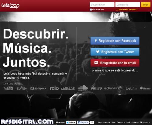 Let'sLoop.com - Formidable site para descubrir buena música