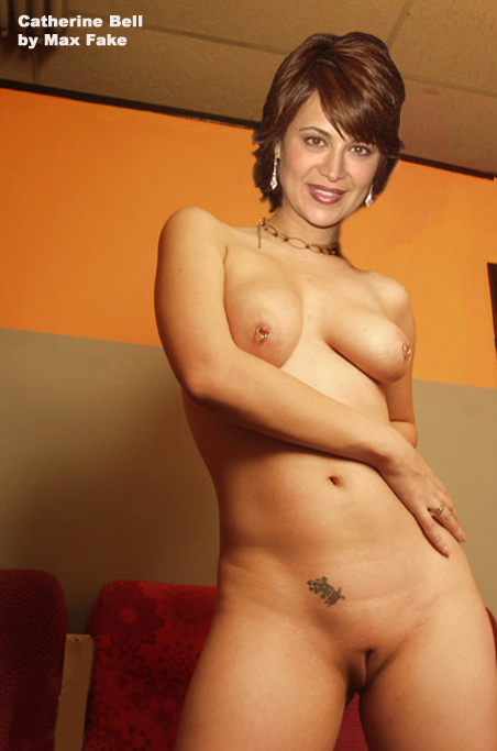Catherine bell sexy unbelievably busty signed photo