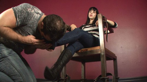 Boot And Foot Licking Femdom